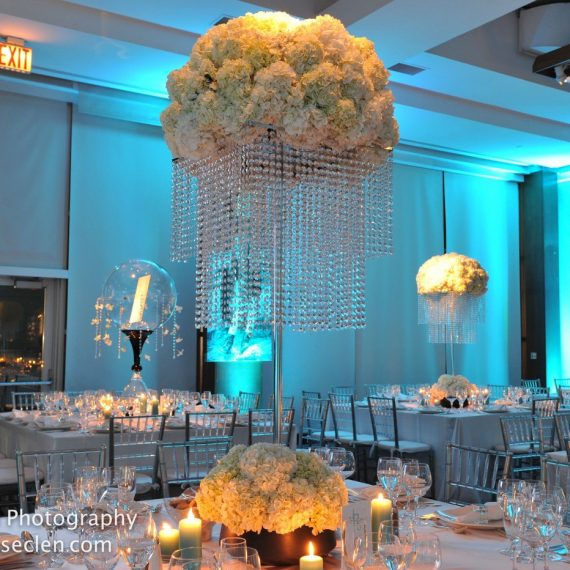 Crystal Decor with Lush Floral